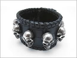 black leather skull bracelet images Realdeal gaboratory amp amp skull bracelet quot jpg
