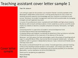 great cover letter for teacher assistant position 99 in resume