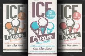 ice cream shop promotion flyer flyer templates creative market