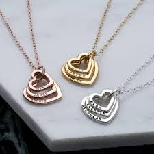 necklace with names images Personalised family names heart necklace by posh totty designs jpg