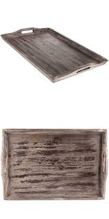 Wooden Serving Trays For Ottomans by Trays 45505 Xxl Off White Taupe Rustic Wood Serving Tray Ottoman