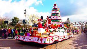 disneyland paris christmas cavalcade mainstreet u s a opposite