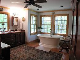 craftsman 3 4 bathroom with raised panel u0026 wood counters in newnan