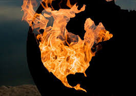 Fire Pit Globe by Hell On Earth Or As The World Burns Globe Fire Pit Geekologie
