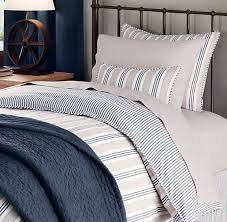 vintage ticking stripe duvet cover european vintage washed percale