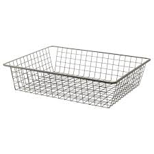 komplement wire basket with pull out rail 75x58 cm ikea
