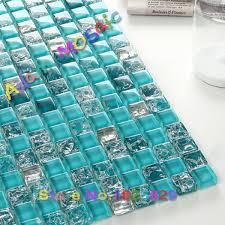 ocean blue glass tiles kitchen backsplash blue mosaic tile mirror