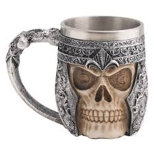 Design Mug Amazon Com Bigoct 53820 Stainless Steel Skull Coffee Mug For 3d
