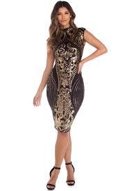 midi dress black sequin midi dress