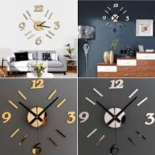 amazing mirror wall clock in pakistan acrylic mirror wall clock in