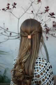 hair cuff metal hair cuff size small copper ponytail holder rustic hair