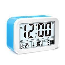 battery powered cl light alarm clock vocc led light alarm clock battery powered smart talking