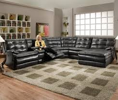Grey Leather Sofa Sectional Sofas U Shaped Sofa Leather Sofa Leather Reclining Sofa Grey