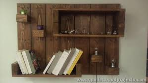 Woodworking Wall Shelves Plans by Decorative Pallet Wall Shelves Pallet Wood Projects