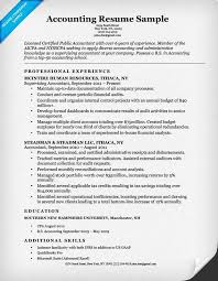 Qualifications On Resume Examples by Accounting Resumes Examples Example Accounting Resume Sample