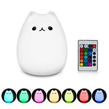 nursery ls with night lights amazon com mystery remote controlled lights led cartoon kitty cat