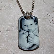 customized dog tag necklace with picture silver photo necklaces men s sterling silver dog tag photo charm