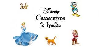 disney characters italian corner italy blog