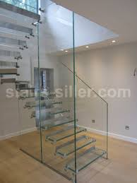 contemporary glass staircase feat wall light fixtures also metal
