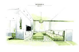 creative interior sketch design vector 05 vector life free download