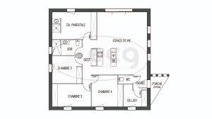 plan maison 4 chambres plan de maison 4 chambres salon cuisine