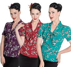 style blouse hell bunny birdy 40s 50s pin up landgirl ww2 retro vintage style
