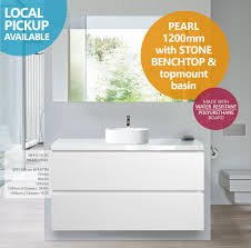 pearl 1200mm white gloss polyurethane wall hung freestanding