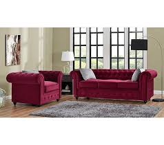 canap chesterfield bordeaux chesterfield 3 places chester tissu bordeaux canapés but