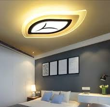 remote control bedroom l minimalist leaf designer modern led ceiling lights for living room