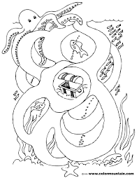 octopus coloring page octopus coloring maze page create a printout or activity