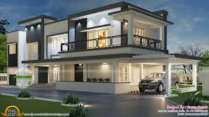 kerala home design flat roof elevation two storey house design with terrace best modern crimson housing