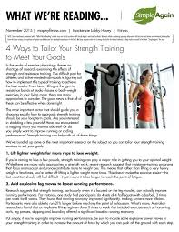 strength training nutrition guide fitness what we u0027re reading simple again