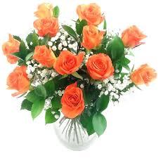 orange roses send dozen orange roses for uk flower delivery from clare florist