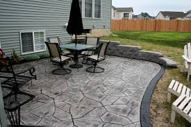 Backyard Concrete Patio Ideas by Stamped Concrete Patio Decorative Concrete Patio