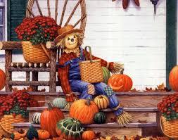 autumn pumpkin wallpaper fall scarecrow wallpaper