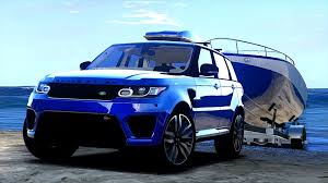 range rover sport blue range rover sport svr 2016 animated templated add on gta5