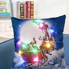 wholesale christmas decorations wholesale new hot led christmas pillow boxes cushion