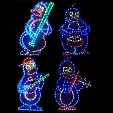 led outdoor decorations lighted commercial displays