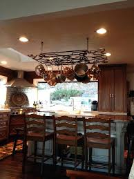 kitchen island with hanging pot rack kitchen pot rack ideas diy island hanging racks skipset info