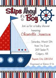 nautical baby shower nautical baby boy shower invitations iidaemilia