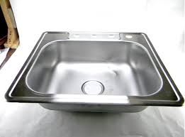 top mount stainless steel sink elkay neptune 25 in top mount stainless steel single bowl kitchen