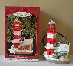 hallmark lighthouse ornament 1997 1st in series sold ruby