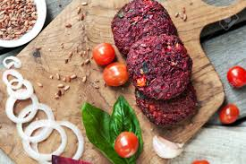 cuisiner un hamburger galettes de betterave à légumes avant de cuisiner avec divers