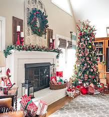 take a tour of my cozy and festive family room