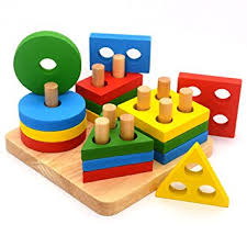 wooden toys stack u0026 sort puzzle colour and shape recognition
