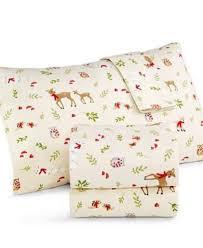 Queen Sheets Martha Stewart Novelty Flannel Woodland Creatures Queen Sheet Set