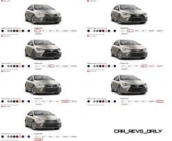 2015 toyota lineup 2015 toyota camry colors and trims visual buyers guide