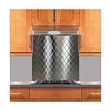 Amazoncom Quilted Stainless Steel Backsplash Various Sizes - Stainless steel backsplash