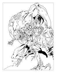 spiderman battle comic books and comics coloring pages for