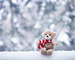 snow falling pinterest teddy bear hd wallpaper desktop hd